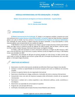 Estrutura de conteúdo - folheteria MBAs 2007