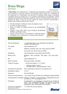 Ficha de Aplicação e Descrição do Produto