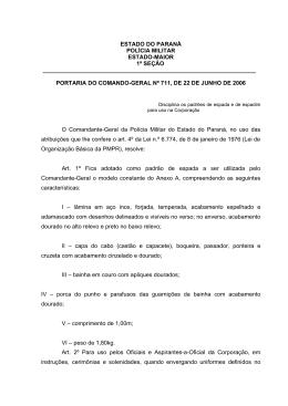 Portaria CG 711/2006 - Polícia Militar do Paraná