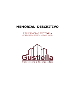 Memorial Descritivo Victoria - gustiella