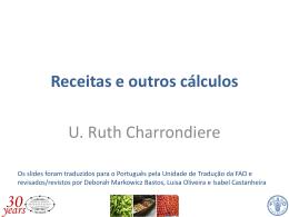Receitas e outros cálculos U. Ruth Charrondiere