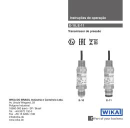 Instruções de operação E-10, E-11