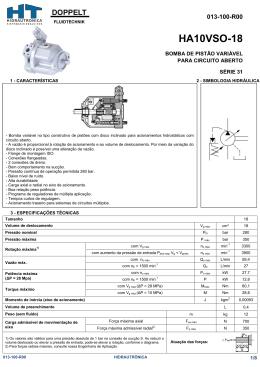 HA10VSO-18 - HT-Hidrautrônica Sistemas Hidráulicos LTDA