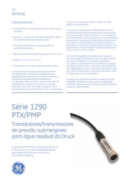 Série 1290 PTX/PMP - GE Measurement & Control