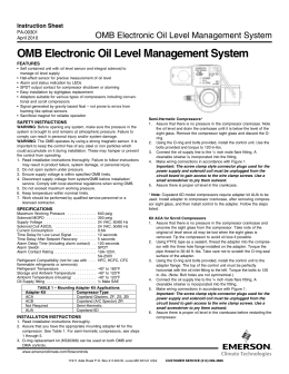 OMB Electronic Oil Level Management System