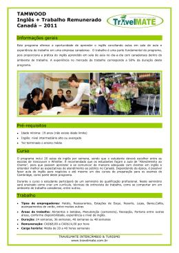 Anexo Work & Study Canadá