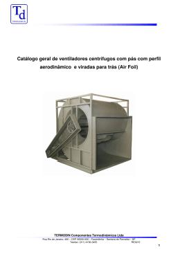 Catálogo geral de ventiladores centrífugos com pás com perfil