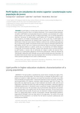 Perfil lipídico em estudantes do ensino superior: caracterização