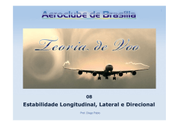 Teoria de Voo - Estabilidade Longitudinal, Lateral e Direcional