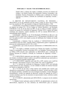 PORTARIA N º 160, DE 17 DE SETEMBRO DE 2014