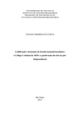 Codificação e formação do Estado-nacional brasileiro