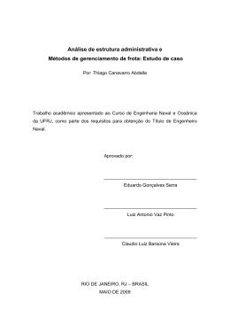 Monografia de Projeto Final - Análise de estrutura administrativa e