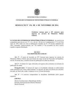 resolução nº 154, de 4 de novembro de 2014. - Procuradoria