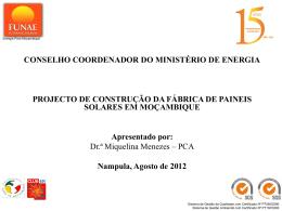 CONSELHO COORDENADOR DO MINISTÉRIO DE