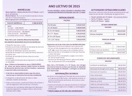 ANO LECTIVO DE 2015 - Colégio Arco-Iris