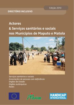 Actores & Serviços sanitários e sociais nos Municípios de Maputo e