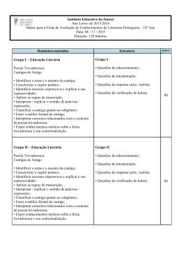 A ESTRUTURA DA NOTÍCIA - IEJ - Instituto Educativo do Juncal