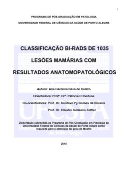 classificação bi-rads de 1035 lesões mamárias com resultados