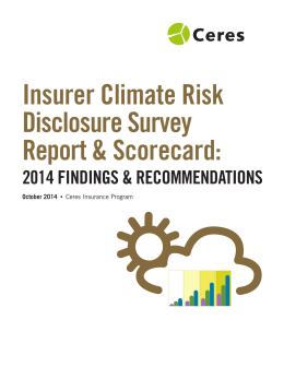 Insurer Climate Risk Disclosure Survey Report