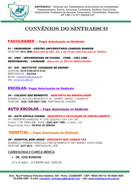 Lista de Convenios (2) - sintraesco-mt