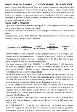PLANO FAMÍLIA AMWAY , O NEGÓCIO IDEAL PELA INTERNET