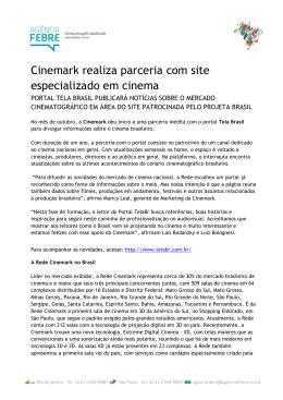 Cinemark realiza parceria com site especializado em cinema