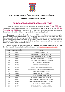 2014 CONVOCAÇÃO DA MAJORAÇÃO em 02 FEV15