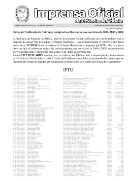 da Estância de Atibaia IPTU