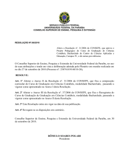 Resolução nº. 66/2010 - Universidade Federal da Paraíba