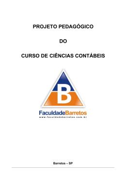 PROJETO PEDAGÓGICO - CIÊNCIAS CONTÁBEIS