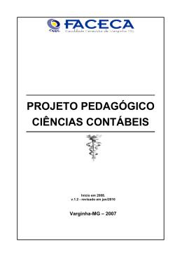 PROJETO PEDAGÓGICO CIÊNCIAS CONTÁBEIS
