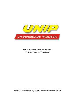 UNIVERSIDADE PAULISTA - UNIP CURSO: Ciências Contábeis