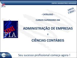ADMINISTRAÇÃO DE EMPRESAS CIÊNCIAS CONTÁBEIS