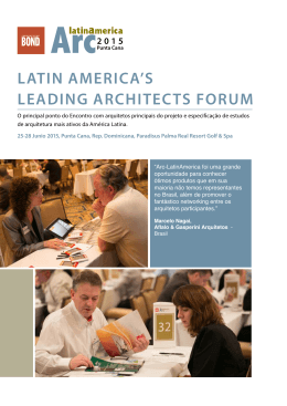 latin america`s leading architects forum - Arc
