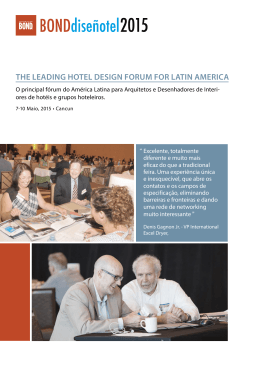 THE LEADING HOTEL DESIGN FORUM FOR LATIN AMERICA