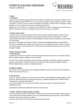 ACORDO DE QUALIDADE ASSEGURADA