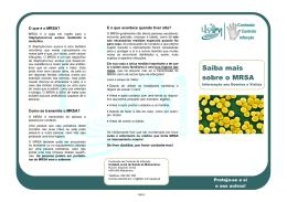 Saiba mais sobre o MRSA - Unidade Local de Saúde de Matosinhos