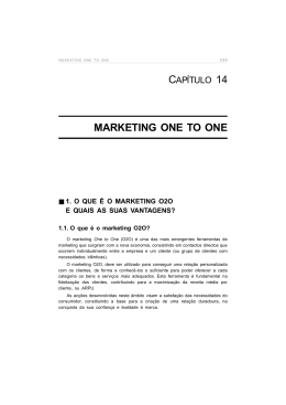 MARKETING ONE TO ONE - E