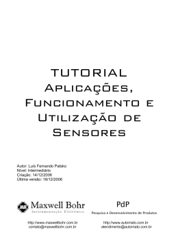 TUTORIAL Aplicações, Funcionamento e Utilização