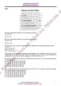 Lista de exercícios 07 Distribuição eletrônica