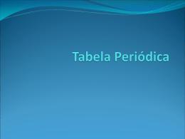 Módulo 5 - Tabela Periódica
