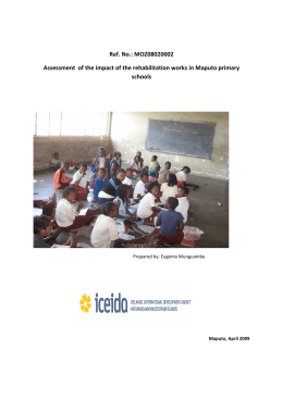 Assessment of the Impact of the Rehabilitation works in Maputo