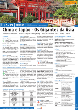 China e Japão - Os Gigantes da Ásia