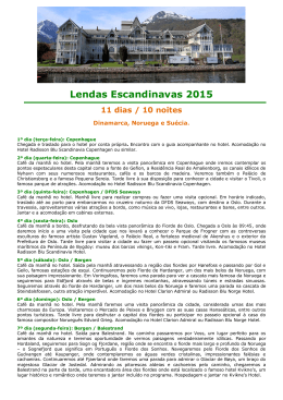 Lendas Escandinavas 2015 11 dias / 10 noites