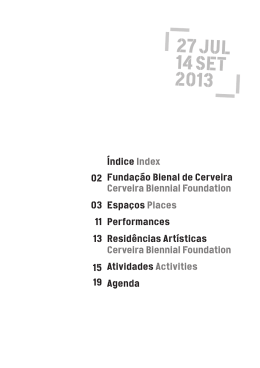 XVII Biennial of Cerveira Program