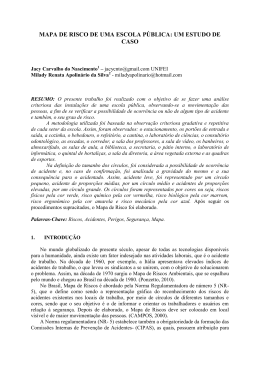 MAPA DE RISCO DE UMA ESCOLA PÚBLICA: UM