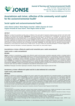 Associativism and civism: reflection of the community social capital