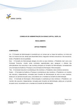 CONSELHO DE ADMINISTRAÇÃO DA SONAE CAPITAL, SGPS, SA