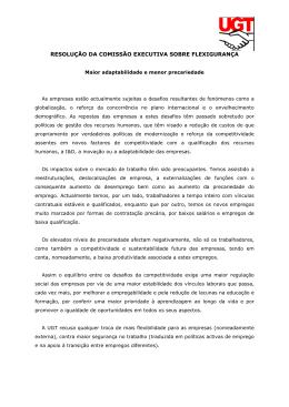 resolução da comissão executiva sobre flexigurança