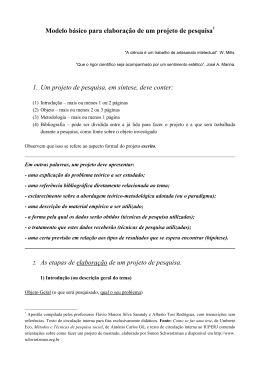 Modelo de projeto de pesquisa (básico)